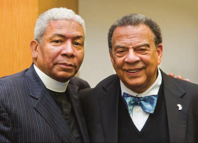 Reverend Eugene Rivers with Ambassador Andrew Young.