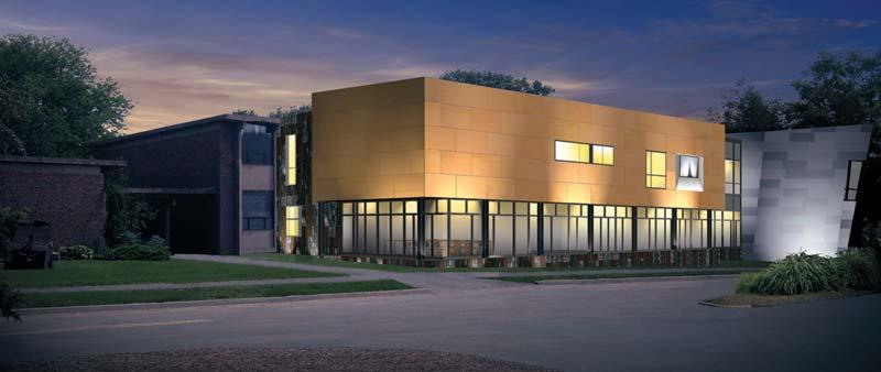 Rendering of The Renée Samuels Center courtesy of The S/L/A/M Collaborative. Bright Ideas.