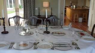 lunch or dinner The dining room has seating for 14 but