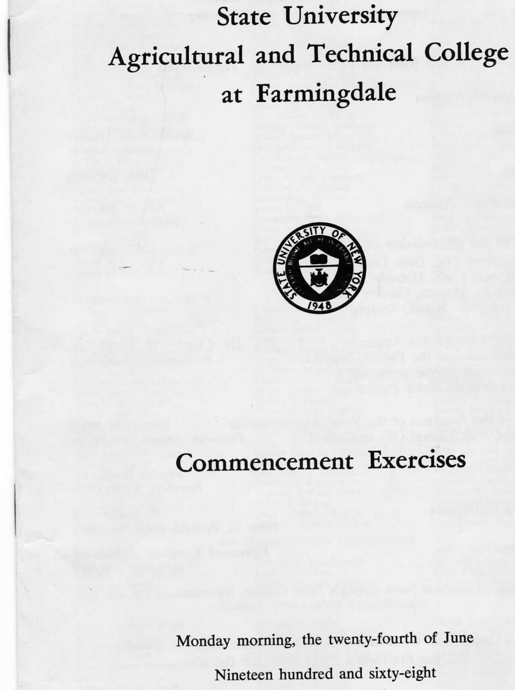 State University Agricultural and Technical College at Farmingdale Commencement