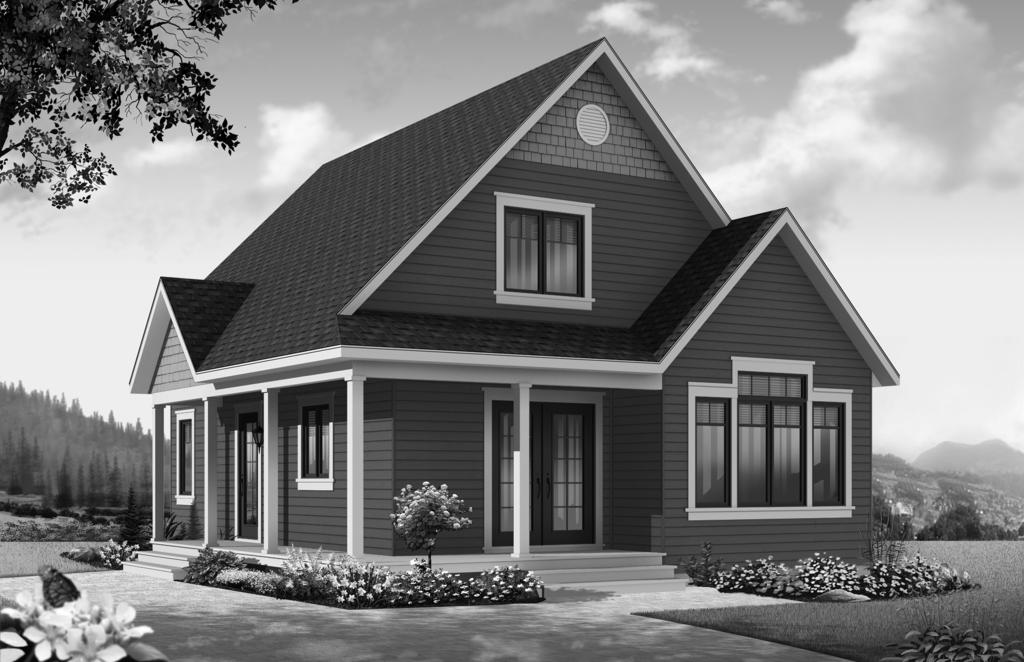 Plan No. SHSW002728 BRIGHT, ONE-BEDROOM COUNTRY HOME Total Square Footage: 1,412 Bonus Space: 579 sq. ft.