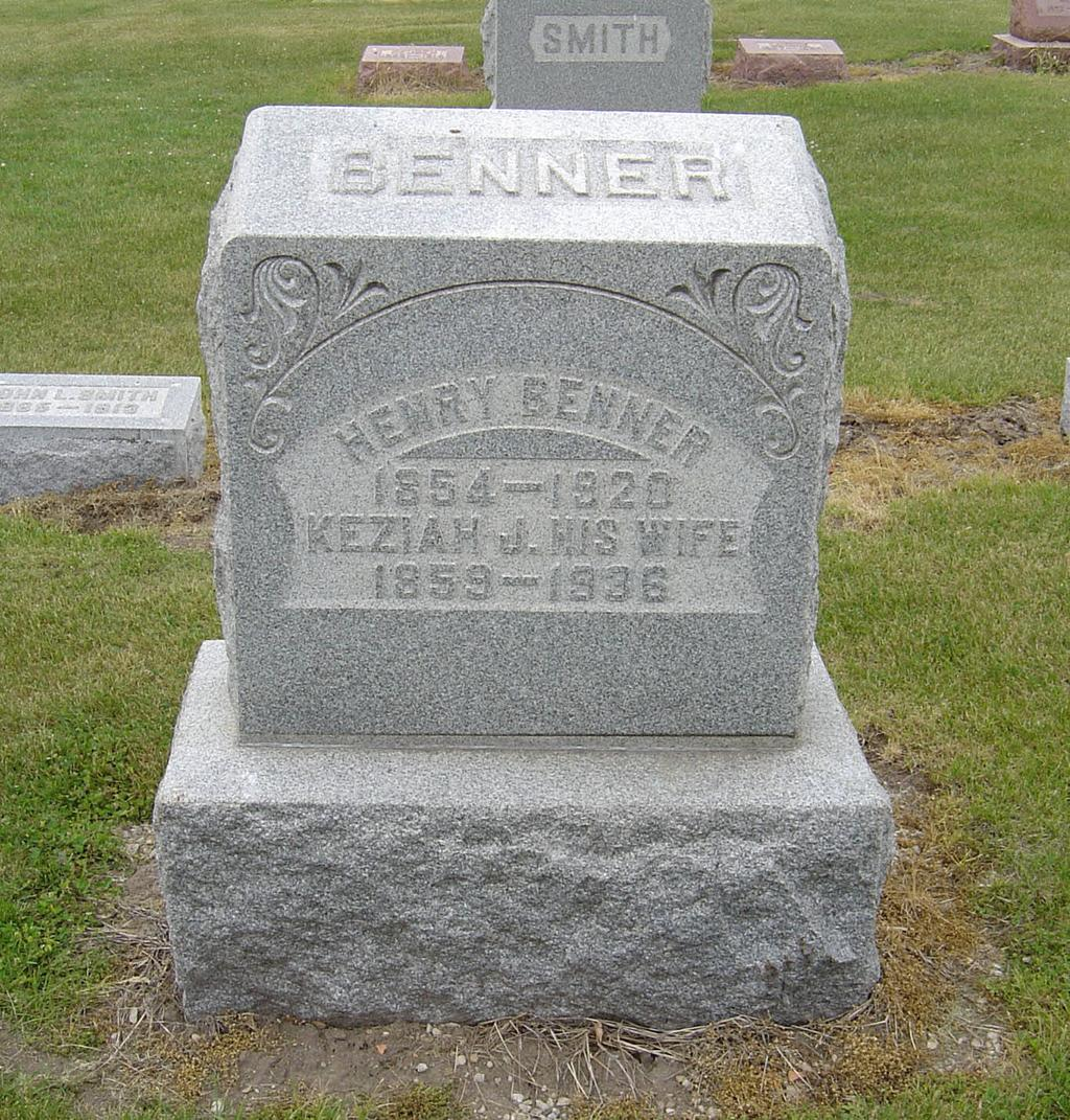 8 He was a Head-man in P. A. Edwards Mill South Whitley, In.7 John T. BENNER and Elizabeth SCHNELL were married on 1 May 1881. Elizabeth SCHNELL was born on 5 Feb 1863 in Columbia City, Indiana.