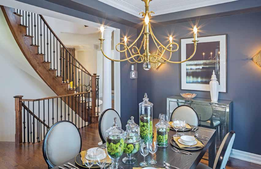 1 DINING ROOM With room enough to accommodate the largest of families, this richly appointed formal dining room is the