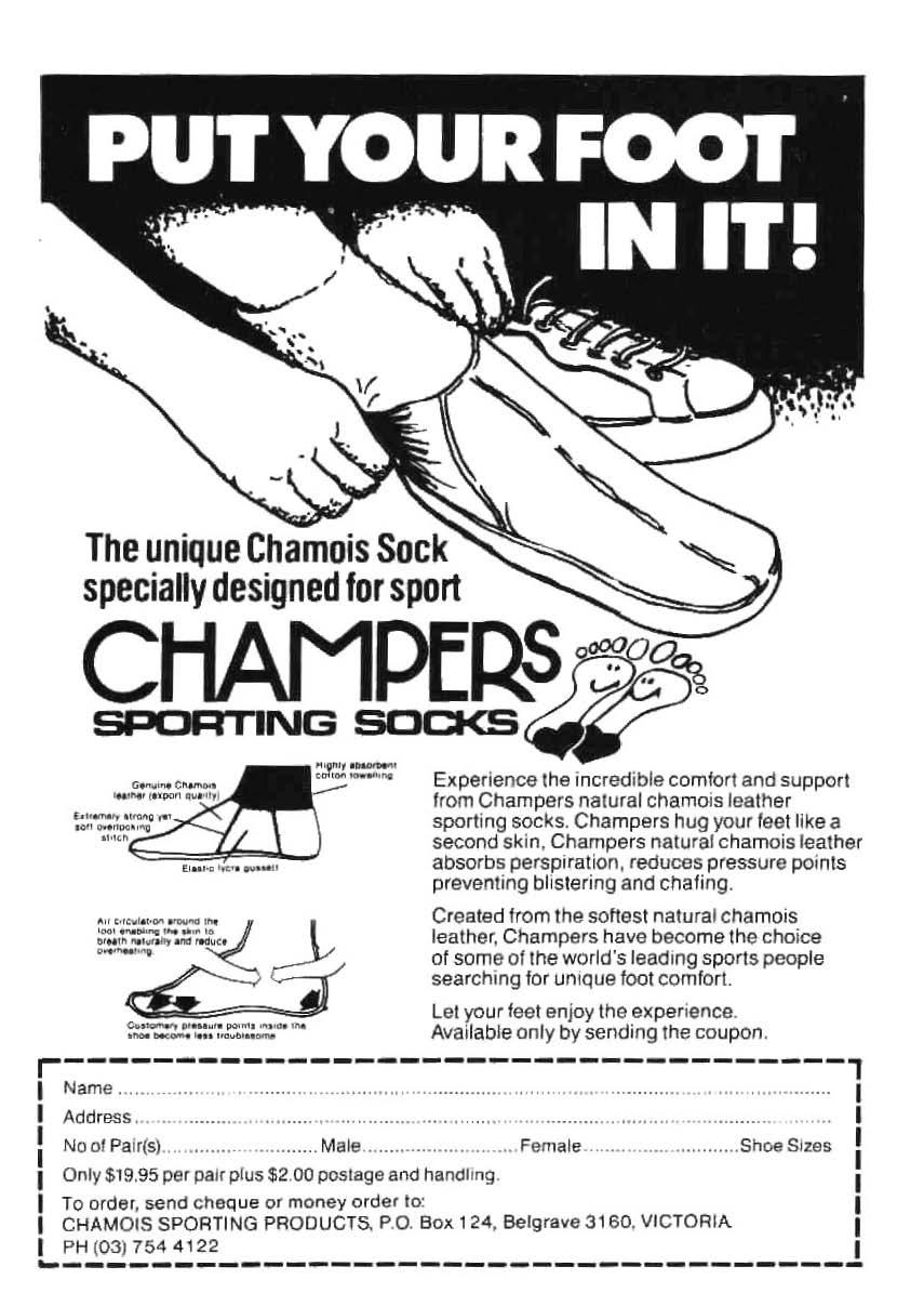 The unique Chamois Sock specially designed for sport CHAMPERS SPCJR ling  SOCKS - ~- '