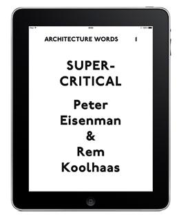ebooks Architecture Words ebook series Established in 2008, Architecture Words counters the dominance of images in architecture by promoting the written word through texts by architects, historians