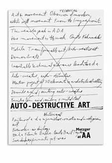Released on the occasion of the 50th anniversary of Metzger s visit to the AA, this new edition now with a preface by Andrew Wilson, curator of Modern and Contemporary British Art and Archives, Tate