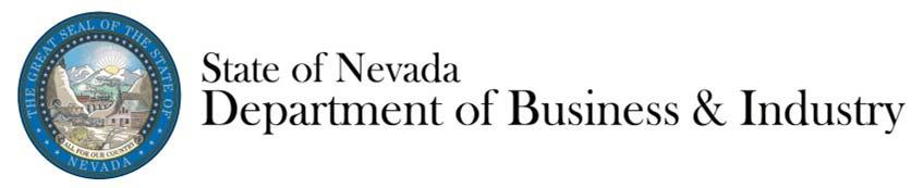 Nevada Department of Business & Industry.