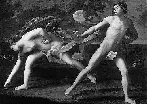 With the help of Aphrodite, Hippomenes dropped three golden apples during the race to distract Atalanta.