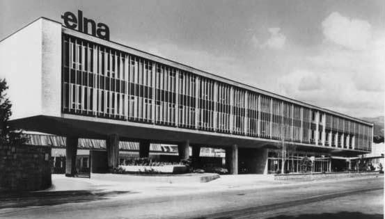 The modernist construction became the Elna brand s international showcase,