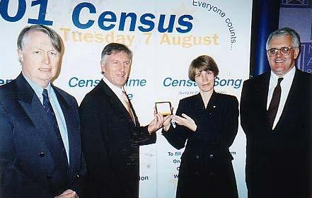 VICTORY FOR THE AFFHO CENSUS LOBBY Official handover of the last roll of microfilm of the 2001 Australian Census for safekeeping in the National Archives in Canberra 24 September 2002.