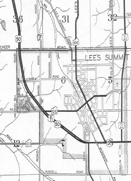 The 1951 annexation included land wanted for a new high school, a proposed new 71-bypass, and an area for an industrial site.