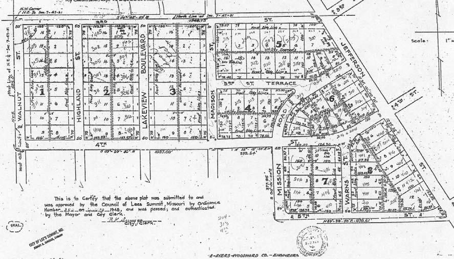 Figure 14: PLAT FOR BAYLES ADDITION acres of the original 120-acre nursery. Shareholders in Bayles Addition Development, Inc.