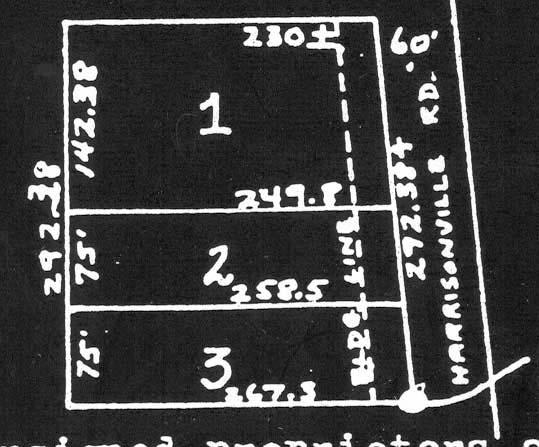 Figure 16: Plat for Willey Addition Marion C. and Leona Willey divided three lots from their property that they purchased in 1943.