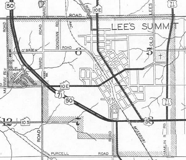 By 1968, the development spread to the east and west, filling most of the town s once vacant area between Highway 71 Bypass, Highway 50, and Chipman Road and development began to spill outside the