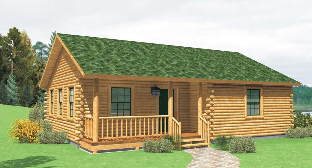 "RELAXED LIVING CABIN VIEW Total Square Feet 905 I s 2 I s 1 I Building Footprint 36 x 28 CAB 2836 2 1 P (B) STD DINING ROOM 11'-2"" x 9'-2"" KITCHEN 11'-1"" x 9'-2"""
