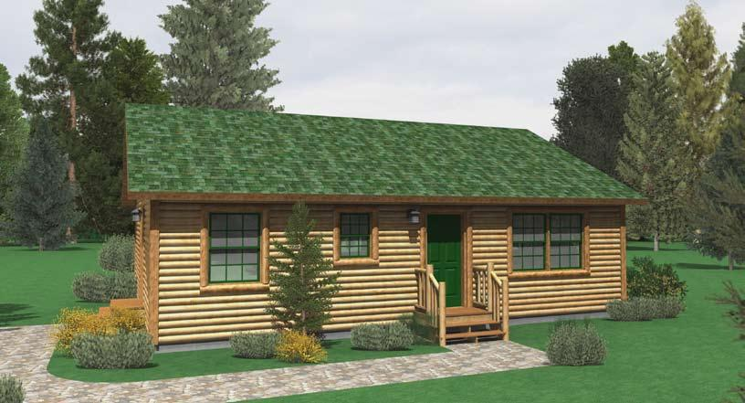 RELAXED LIVING CABIN STREAM Total Square Feet 995 I s 2 I s 1 I Building Footprint 36 x 28 CAB 2836 2 1 STD OWNER BEDROOM 13'-7""
