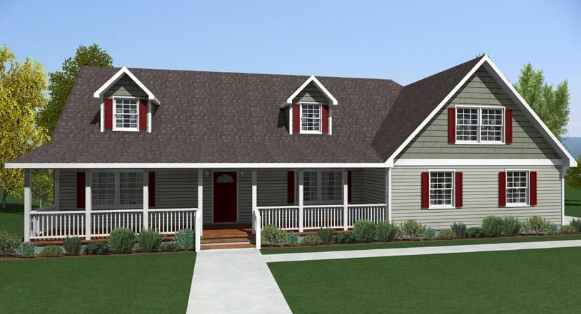 CAPE COD KENTON Total Square Feet 1,726 (1,105 First Floor, 621 Second