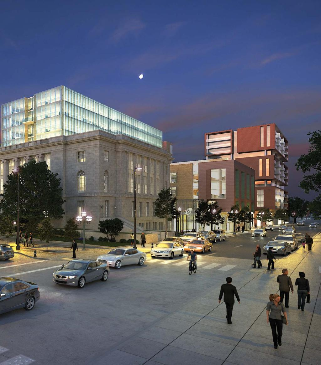 The Madison Municipal Building provides the historic foundation for new