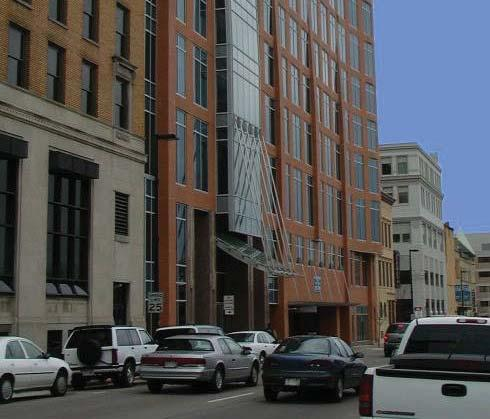 The project included the 10-story Doty Street Building, the three-story Burrows Block Building, the five-story One East Main Addition, provisions for a future five-story building, and a five-level,
