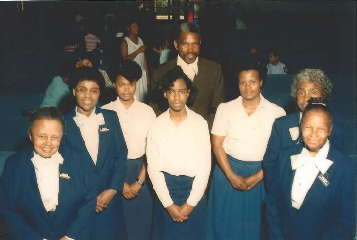 USHER BOARD: (front left to right) Mary Pettiford, Bee Colona, Allana