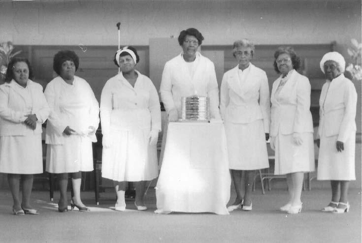 Deaconess: Mary Pettiford, Patricia Douglas, Josephine Lee, Edith Wright, Pauline Allison, Johnnie Holloway, Alberta Keith,