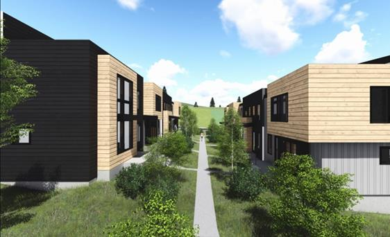 Discovery MCHT (on behalf of private developer) 25 Townhomes, 4 Duplex Units, 1 Single Family Home (all 3BR - 4BR) Estimated Pricing: $320,000 - $420,000.