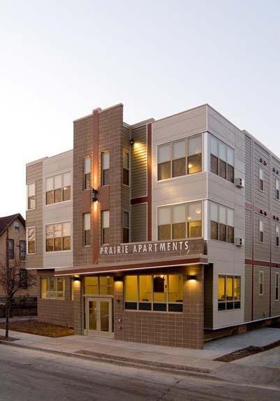 Case 4: Prairie Apartments Milwaukee, WI LEED for Homes Gold 18,900 square foot, three story, 24 apartment unit building for supportive housing.