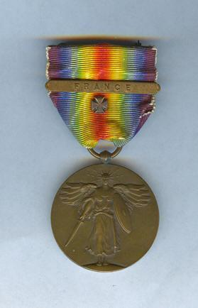 Champagne-Marne, Aisne-Marne and Defensive sector with service ribbon & 4 stars.