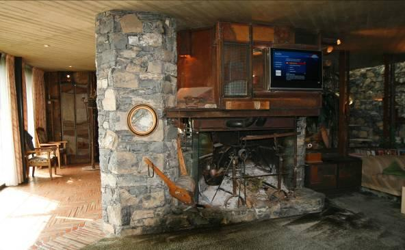 Original Ticinese fireplace with