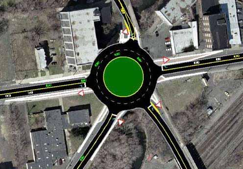 Connectivity Linkages Study recommends: A roundabout at intersection of