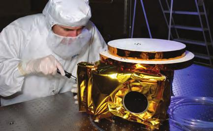 Courtesy Ball LORRI, a long-range reconnaissance imager, is a 1000 1000-pixel sensor that, in combination with a telescopic camera, delivers monochrome images and high-resolution geological data.