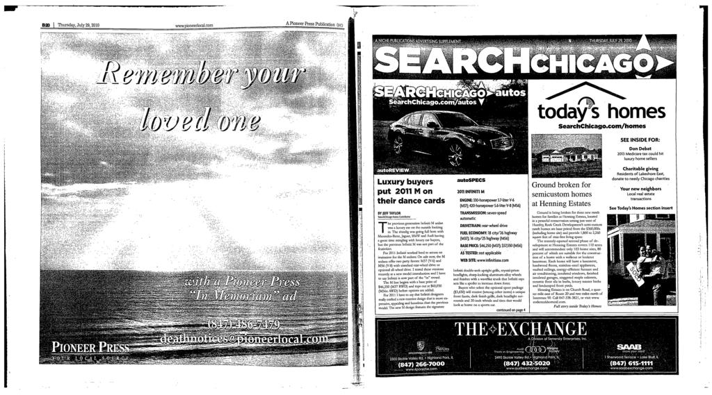 Thursday, July 23, 2010 Wwuopioneerlocalcom A Pioneer Press Publicutiog  (Oc) THURSDAY,