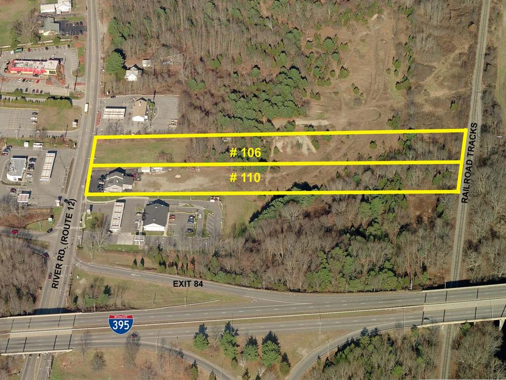 5 + Acres of Prime Development Land For Sale in Lisbon, CT $675,000 106 + 110 River Rd.