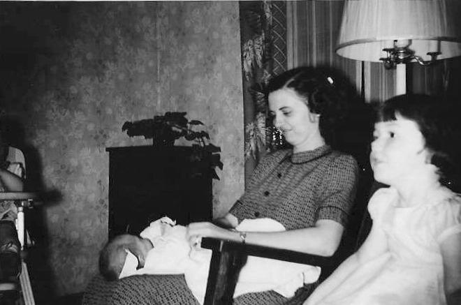 Above: Pictured here is Betty O Connor holding her nieces (Harold & Betty s Children) Julie & Kit