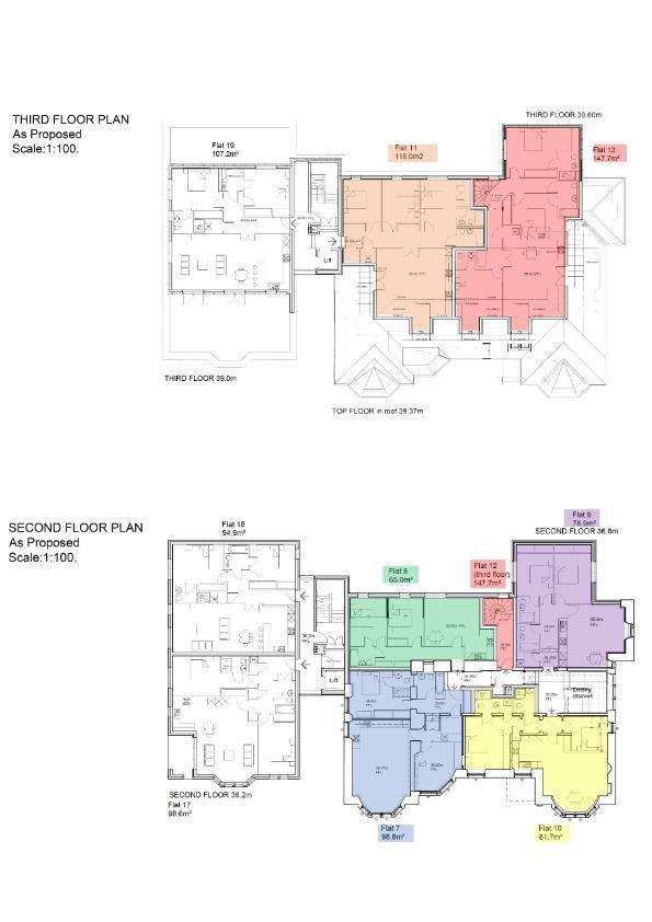 THE FLOORPLANS IN THIS EARLY RELEASE HANDOUT ARE TO SHOW THE POSITIONING OF THE APARTMENTS WITHIN THE BUILDING ONLY.
