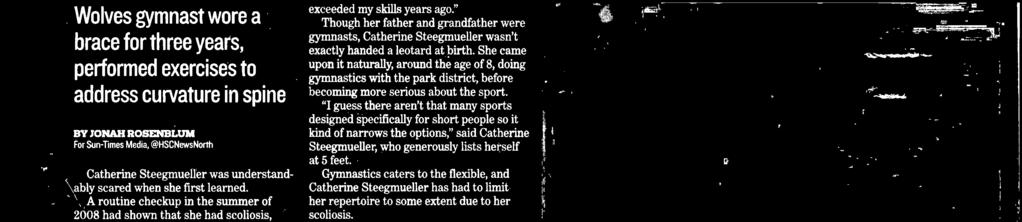 """ Long before her high school career at Niles West began, Steegmeller had to wonder if she had any ftre in the sport at all. "" was kind of concerned,"" Steegmeller said."