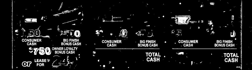 CASH BG FNSH BONUS CASH TOTAL