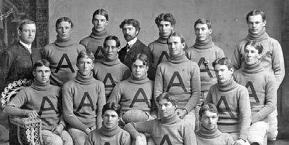 On Thanksgiving Day 1899, the UA played its first intercollegiate game with the Tempe Normal School (later to become ASU), which had a more seasoned team since it had made an earlier start in