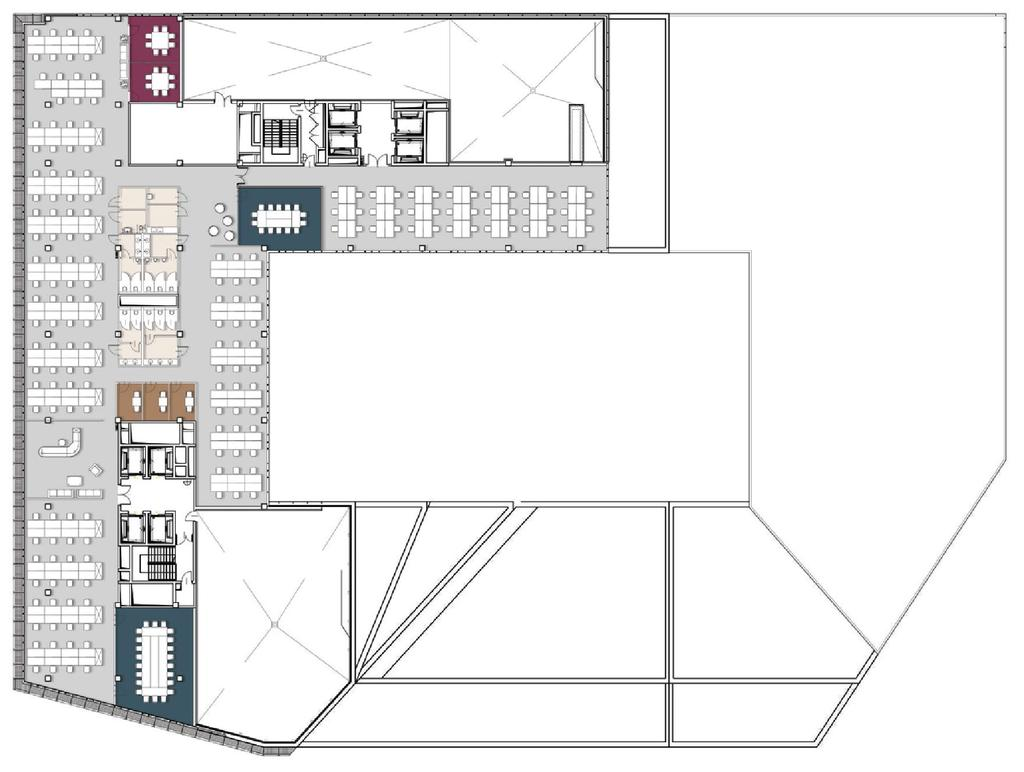 ONE CORPORATE TENANT SAMPLE ARRANGEMENT BUILDING LEVEL: 9th Floor OPEN SPACE OCCUPANT AREA: 1467,00m²