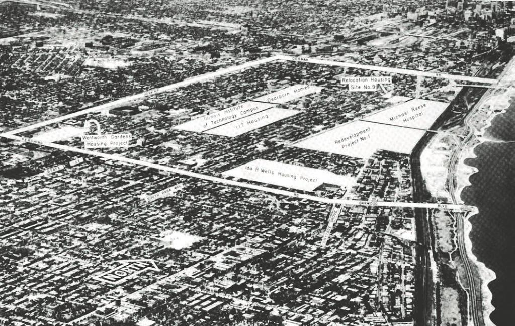 EXPANSION, 1946-50: CITY PLANNING BY MEANS OF ARCHITECTURE 1 2 5.27 Redevelopment Plan for the South Central Area of Chicago, 1950. iit (no.