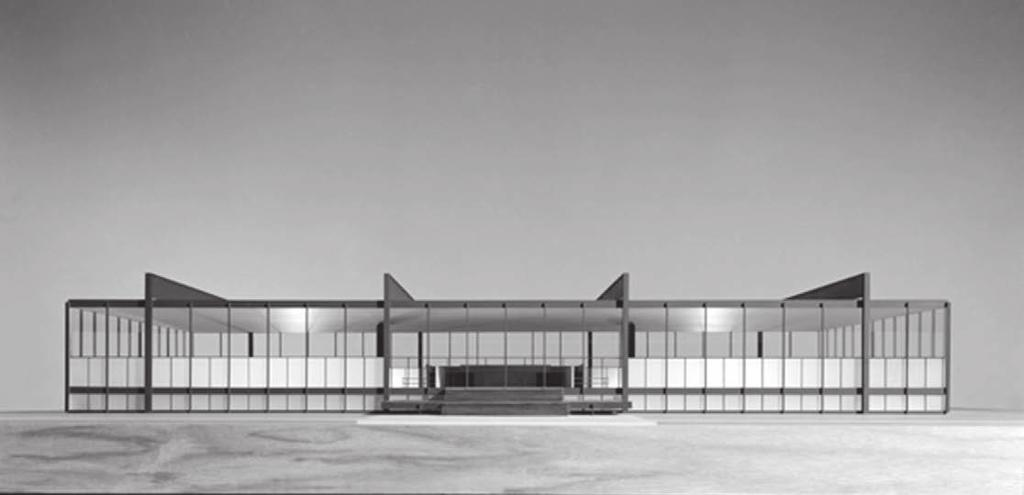 OPEN PLAN AS EVENT SPACE 6.6 Mies's design for iit Architecture, Design and Planning Building, views of the presentation model, c.1951.