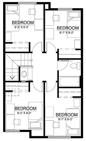 Townhome Floor Plan (264 beds)