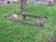 Edging, north (on 1 line): ALSO ORLANDO HER BELOVED HUSBAND DIED FEB. 14 TH 1953, AGED 94 YEARS. Edging. U.GG.