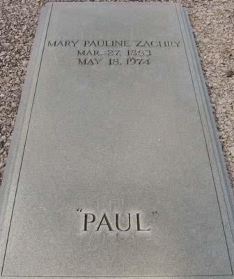 B. Mary Pauline Zachry Born March 27, 1883 Pine Mountain,