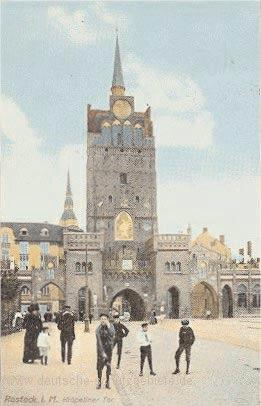 Early 1800s painting of Rostock s St. Nicoli Church.