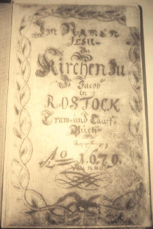 William s confirmation took place in Rostock s St. Jacobi Church in 1847, on the eve of the failed German revolution.