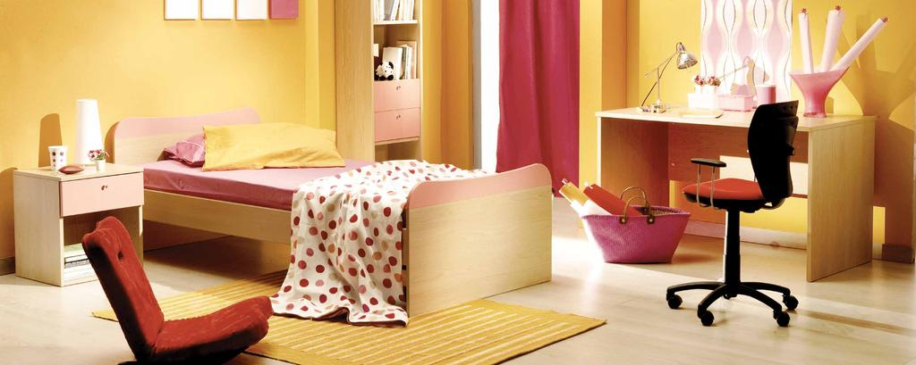 Colorful Kids Room Elements of fun, bold colors and brave textures come together to