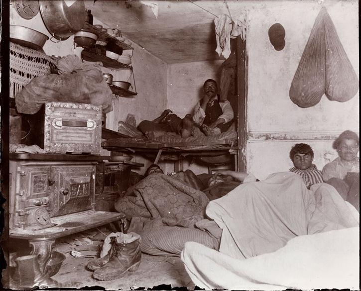 Document A Riis took this photograph in a dark, windowless tenement in 1890.