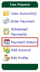 Viewing Payment History You have the ability to view payment