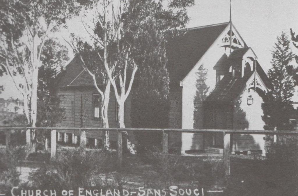 CHURCHES St Andrews Church of England In the 1890s, as part of the Parish of St Pauls, Kogarah, Anglican Sunday School classes commenced in the Cricket Pavilion, a tin shed on William Pritchard s
